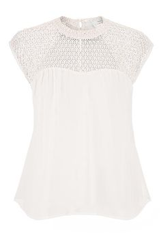 lacy chiffon top with button back - maurices.com