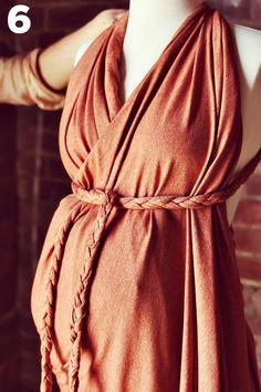 Easy drape/braid wrap dress