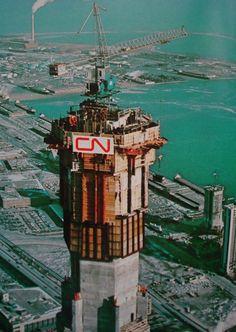 CN Tower under construction. #Toronto #History #Vintage
