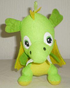 BANANAS Lime Green & Yellow Dragon Soft Toy Plush Collectable