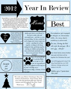 Holiday Infographic // Christmas Letter // by @SushiandQueso via ...