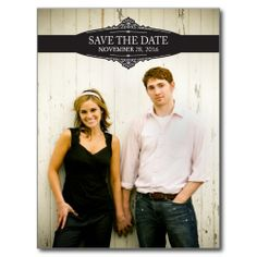 Vintage Photo Save the Date Postcards