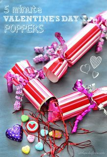 diy recycled valentine s day poppers, crafts, repurposing upcycling, seasonal holiday d cor, valentines day ideas, DIY Valentine s Day Poppers