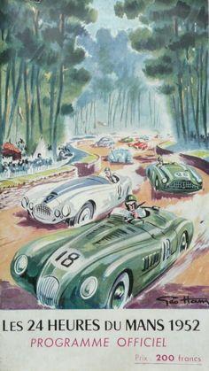 Programme ancien officiel des 24 heures dummans 1952 couverture--Georges Hamel