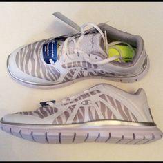3f0eaa0f933 Champion Woman s Sneakers White Silver Size 8 NIB NWT