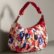 ELLE Floral Pleated Hobo