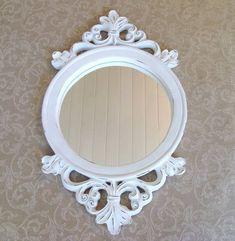 Papel de Parede e espelho provençal para a sala