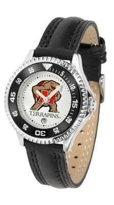 Maryland Terps Women's Leather Sports Watch by SunTime. $68.95. Poly/Leather Band. Women. Adjustable Band. Date Calendar And Rotating Bezel. Officially Licensed Maryland Terrapins Women's Leather Sports Watch. Maryland Terps Women's Leather Sports Watch. The Terrapins wris watch features functional rotating bezel color-coordinated to compliment team logo. A durable, long-lasting combination nylon/leather strap, together with a date calendar, round out this best-selling timepi...