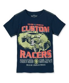 Another great find on #zulily! Navy 'Custom Racers' Tee - Toddler & Boys by RUUM #zulilyfinds
