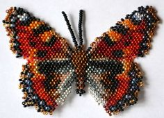 Butterfly Aglais Urticae Pattern by Katherina Kostinsky at Bead-Patterns.com