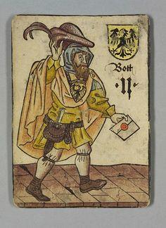 """Bote, Deutschland, aus dem """"Hofämterspiel"""", um 1455"""
