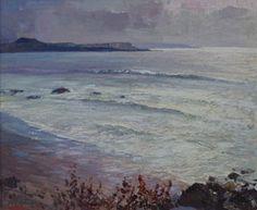 "Fremont Ellis, Seascape, Purchased in Santa Fe 1960, Oil on Canvas, 25"" x 30"""