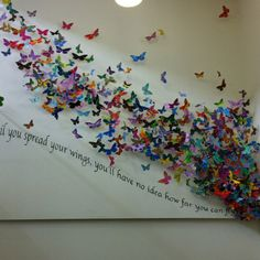 My sons school have produced this stunning artwork as part of their Olympic celebrations. Every child and member of staff made a butterfly - incredible impact.