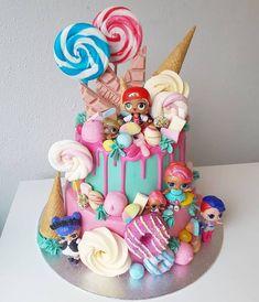 LOL surprise cake + 30 Lol doll cake models – Birthday … – Pastry World Doll Birthday Cake, Funny Birthday Cakes, 6th Birthday Parties, Birthday Ideas, Birthday Cupcakes, Doll Cake Designs, Bolo Super Mario, Lol Doll Cake, Dessert Party