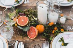 grapefruit foodie wedding