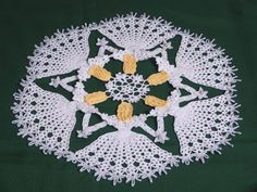Snow Fairy Crinoline Circle Doily-crochet pattern to buy