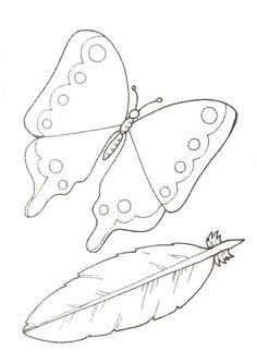 un papillon et une plume colorier coloring pagescoloringa