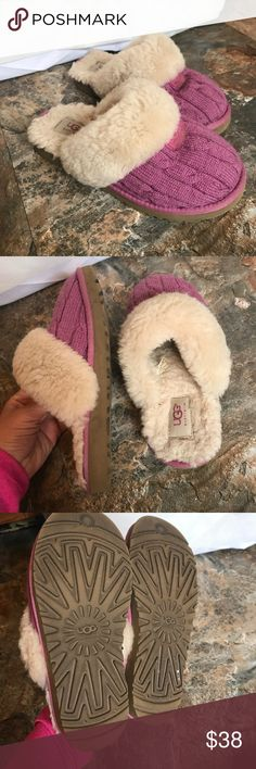 Ugg slip ons little girl 2 In really great shape no obvious rips or stains UGG Shoes