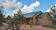 Exterior Custom Home Views - Lee Michael Homes Custom Builders in Albuquerque NM New Mexico Style, New Mexico Homes, New Homes, Custom Home Builders, Custom Homes, Metal Roof Houses, Woodland House, Adobe House, Colorado Homes