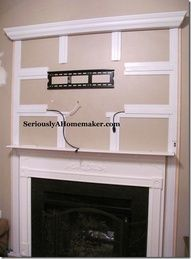 How To Hide A Tv Over Fireplace Cords Hiding