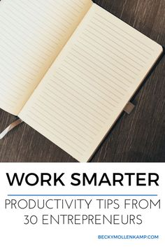Stop feeling overwhelmed. Take control of your day with these smart productivity tips from 30 entrepreneurs. http://www.beckymollenkamp.com/productivity-tips-from-30-entrepreneurs
