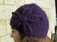 Ravelry: Purple Delight Hat (with flower) pattern by Romy Kremers