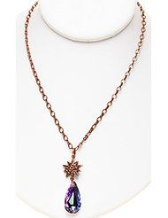 KIRKS FOLLY ASTRAL ROSE GOLD STAR SHIMMER CRYSTAL DREAM NECKLACE ~ NEVER RELEASED ~ Swarovski Crystal Vitrail...
