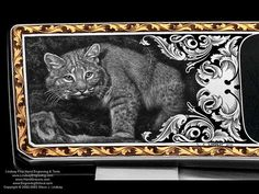 Ron Lake made knives engraved by Steve Lindsay