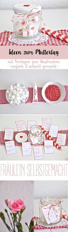Ideen zum Muttertag Ideas for Mother's Day Fathers Day Art, Diy Mothers Day Gifts, Happy Mothers Day, Diy Crafts Love, Crafts For Kids, Diy 2019, Diy Pinterest, Mother's Day Gift Baskets, Bookmark Craft