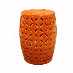 Pin it :-) Follow us :-)) zGardensupply.com is your Garden Supply Gallery ;) CLICK IMAGE TWICE for Pricing and Info SEE A LARGER SELECTION of gardening stools  at http://zgardensupply.com/category/garden-supply-categories/gardening-clothing-gear/stools/ - garden, gardening, gardening gear,stools, garden stools  - Orange Coin Ceramic Carving Garden Stool « zGardenSupply
