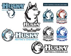 HUSKY HEATING LOGO SHEET. To answer my critics: This one really is a dog! Had a lot of fun making this one...