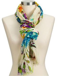 Old Navy Floral Scarf Old Navy Scarves, Plus Size Summer, Floral Scarf, Get The Look, Flower Power, Love Fashion, Floral Prints, My Style, Pretty