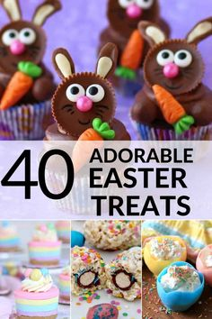 These fun and adorable easter treats are the perfect addition to your holiday you ll find everything from chocolate recipes to cupcakes and cookies easter dessert bunny chocolate the 11 best diy easter candy jars Easter Candy, Easter Treats, Easter Food, Easter Stuff, Easter Cupcakes, Easter Cookies, Bon Dessert, Dessert Recipes, Holiday Treats
