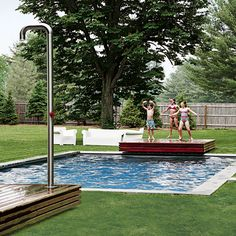 Garden with swimming pool | New England home | House tour | Real homes | PHOTO GALLERY | Housetohome