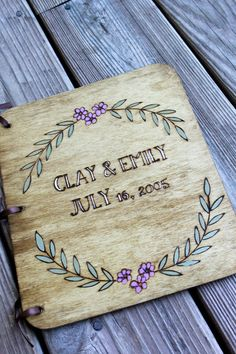 Custom Wedding Guest Book  Wreath by LazyLightningArt on Etsy, $40.00
