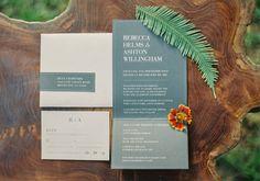 Rustic Minimal Wedding Invitations