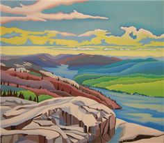 Casson, member Canadian Group of Seven artists Tom Thomson, Emily Carr, Abstract Landscape, Landscape Paintings, Landscapes, Canadian Painters, Canadian Artists, Art Pictures, Art Images
