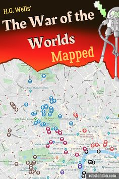 A look at the many real-life locations featured in H.G Wells' classic sci-fi novel, 'The War of the Worlds'. over 180 sites included! Freud Museum London, London Location, Sci Fi Novels, Classic Sci Fi, Hill Park, London Places, Barbican, London Art, British Library