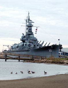 """The USS Alabama on the causeway on Mobile Bay . A """"Must Visit,"""" when visiting Mobile Gulf Coast area . Navy Special Forces, Uss Alabama, Colorized History, Us Battleships, Go Navy, Naval History, Army Vehicles, Military Photos, United States Navy"""