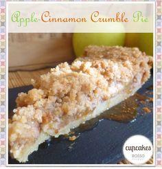 Apple cinnamon crumble pie / Pie crujiente de manzana y canela