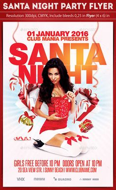 Santa Night Party Flyer