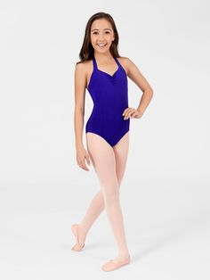 CAPEZIO HALTER DANCE LEOTARD  Tap dancing audition leotard with white circle skirt