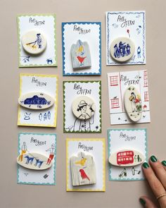 Polly Fern — Ceramic brooches in my shop -. Ceramic Jewelry, Ceramic Clay, Ceramic Beads, Polymer Clay Jewelry, Ceramic Pottery, Cold Porcelain Jewelry, Diy Clay, Clay Crafts, Diy And Crafts