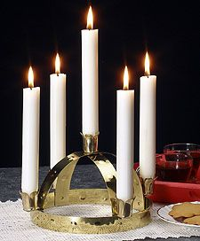 Lucia Crown for Real Candles (5 Candles)