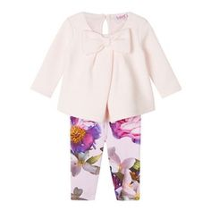 8147650ac2682 Baker by Ted Baker Baby girls  pink top and leggings set