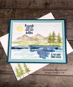 Karen's Stampin' Habit!: Waterfront Card for a Masculine Get Well