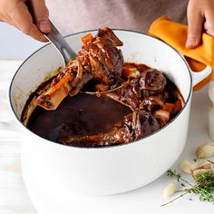 Slow-cooked balsamic lamb shanks | Healthy Recipe | Weight Watchers AU