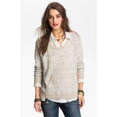 Free People 'Moonstone' Sweater ($128) ❤ liked on Polyvore
