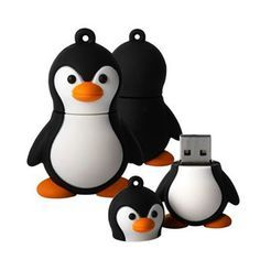 Cute mini penguin model usb flash drive 2g/b.