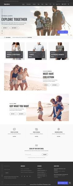 Norebro is clean and modern design responsive multipurpose #WordPress theme for #fashion store #eCommerce website with 30+ niche homepage layouts website to live preview & download click on Visit